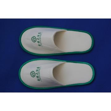 3 Star White Hotel Embroidery Logo Close Toe Slipper