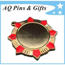 Médaille de haute qualité avec placage d'or
