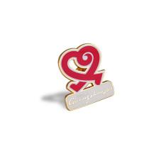 Badge en émail personnalisé avec Golden Electronplated (GZHY-YS-004)