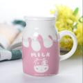 2016 olla caliente de la leche de la venta, olla de la leche del gres, olla hecha a mano de la leche