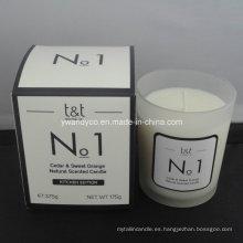 No. 1 Cedro natural y vela perfumada de naranja dulce