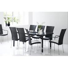 DS-(371) rattan indoor furniture modern rattan indoor dining table