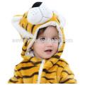2018 popular tigre bonito animal pano, bebê Macio Flanela Romper Animal Onesie Pijamas Outfits Terno, desgaste do sono