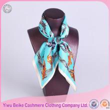 Lenço de seda 100% seda de seda de alta qualidade com tamanho diferente
