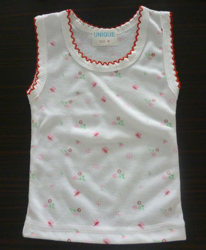 cotton printed Baby vest