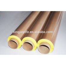 Fita de fibra de vidro marrom papel de liberação PTFE não adesivo fita adesiva