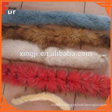 Snow on Top dyed in Two Tone color fox Fur Trim