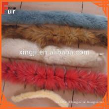 Snow on Top tingido em dois tons de cor fox Fur Trim