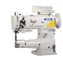 Máquina de costura de ponto único de alimentação de uníssono de cama de cilindro de agulha com cortador de linha automático