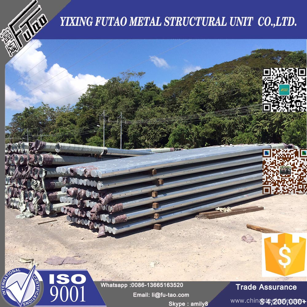 11.5m 12m Transmission Power Poles With Galvanized