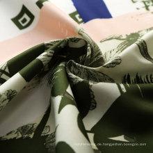 100% Printed Polyester Pongee Stoff für Mode Kleider
