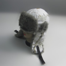 White Camouflage Print Trapper Hat