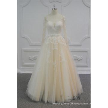 Champagne Wedding Dress A-Line Unique Wedding Dresses 2017