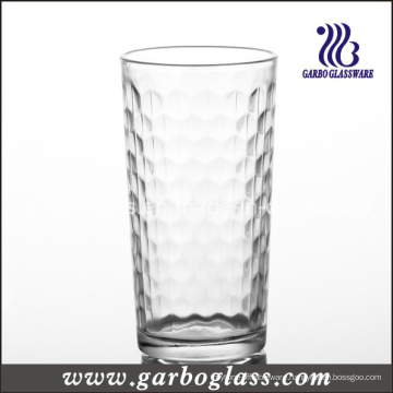 Glass Cup & Machine-Pressed Tumbler with DOT Design (GB026509Q)