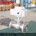 robinet à tournant sphérique motorisé à bride en acier inoxydable dn40