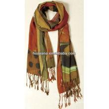 elegent women woven silk/cashmere scarf