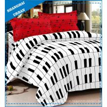 Conjunto de capa de edredão de cama de algodão de 3 peças de mistura