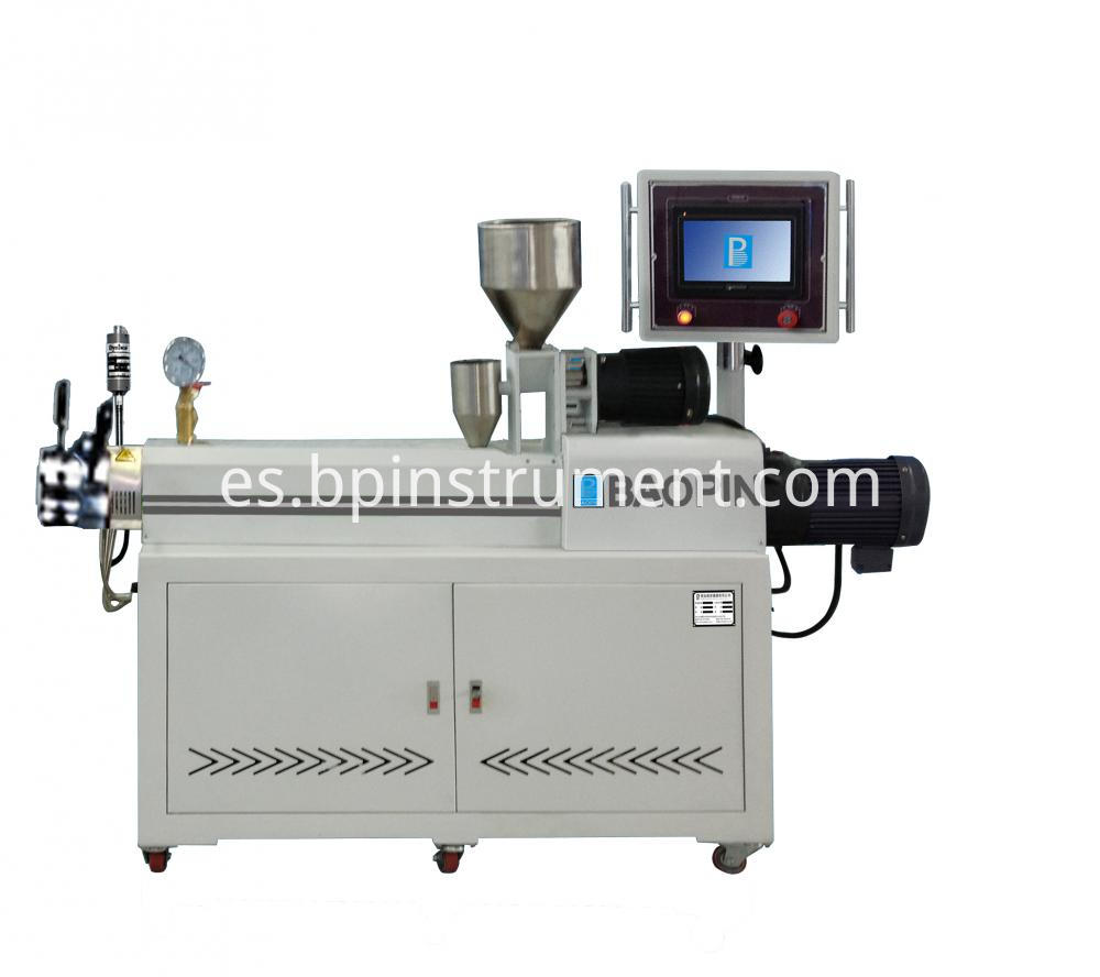Plc Control Double Screw Extruder White