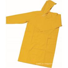 Capa de lluvia PVC / poliéster Workwear diseño moda impermeable OEM
