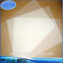 Hoja difusora de luz de plástico para iluminación de panel LED