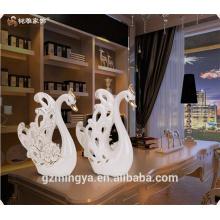Artesanato de cerâmica cisne cerâmica artesanato figura cisne casamento favor artesanato de cerâmica guangzhou fornecedor por atacado