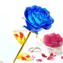 Home Decoration Flowers Creative Valentine' s Day Gift Crystal Rose Flower