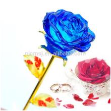 Decoração para casa Flores Criativo Dia dos Namorados Presente Cristal Rosa Flor