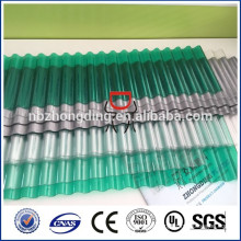 never yellowing UV coated roofing polycarbonate corrugated sheet