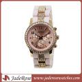 Exquisite Diamond Uhren Wwomen Alloy Watch mit Silikonband