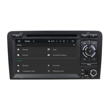 Audi A3 2003-2013 7-Zoll-Auto-DVD-Player