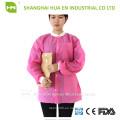 Vestido de laboratorio desechable del laboratorio de la chaqueta del laboratorio dental de los SMS
