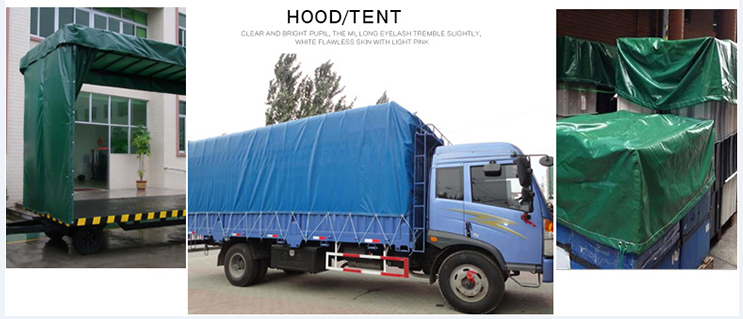 PE tarp use in truck