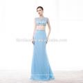 Alibaba en gros Deux Pièces Lumière Bleu étage longueur pas cher robe de bal 2017
