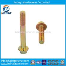 DIN6921 Grade12.9 Color Zinc Plated Flange Bolt