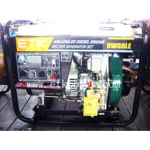 2014 Nuevo tipo abierto generador diesel del soldador (cantón justo TYpe)