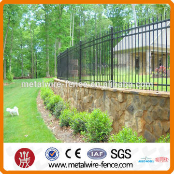 High security designs for steel fence