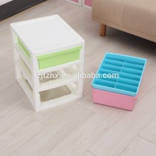 Plastic Three Tier Storage Boxes Cabinet Drawers