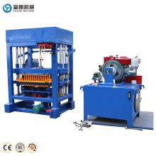 Máquina de fabricación de bloque de ladrillos de pavimentación de hormigón hidráulico de accionamiento manual ecológico