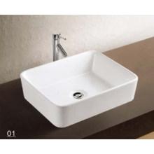 Lavabo de venta caliente con accesorios de baño (W7167)
