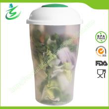 Großhandel Salat Shaker Flasche mit Gabel