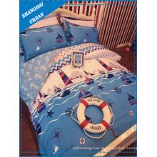 Пододеяльник постельного белья хлопка хлопка военно-морского флота (комплект крышки)