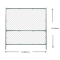 Chain link metal fencing