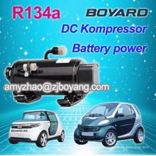 Climatiseur à basse tension pour voitures avec compresseur hermétique rotatif bldc électrique de voiture ac