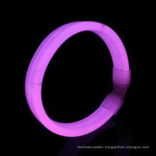 pink wide glow wristband