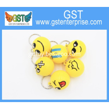 Plastic Emoji Emoticon Ball Key Chain