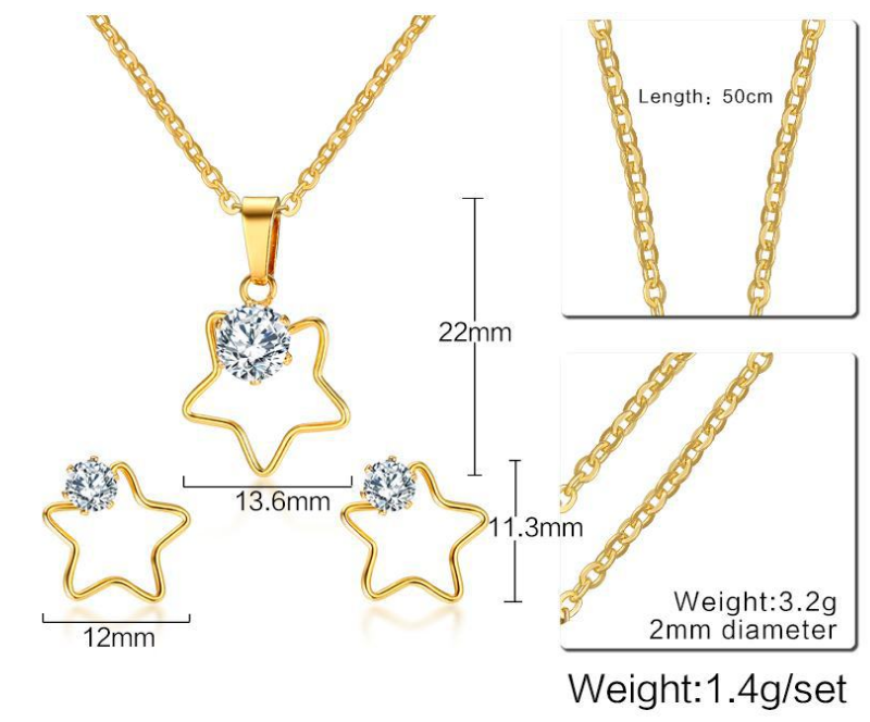 Bridal Gold Pendant Jewelry Sets