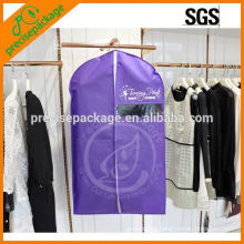 Hot sale non woven garment package with front zipper