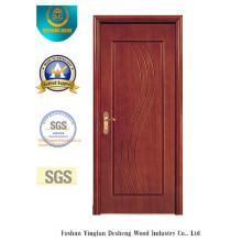 Porte de forces de défense principale de style simplifié pour l'intérieur avec la couleur brune (xcl-028)