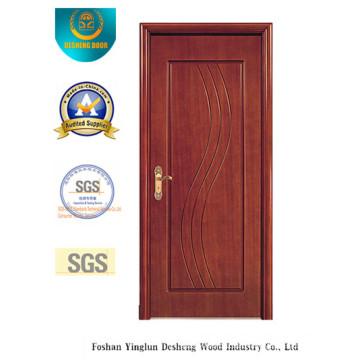 Vereinfachte Art MDF-Tür für Innenraum mit brauner Farbe (xcl-028)