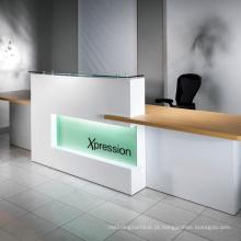 Mesa de recepção de superfície sólida de pedra artificial fabricada pela Kingkonree